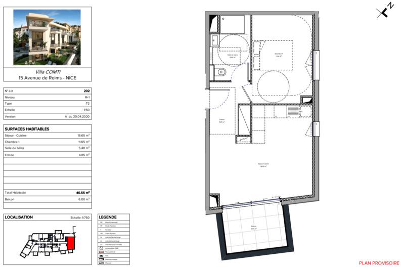Homki - Vente Appartement  de 40.0 m² à Nice 06100