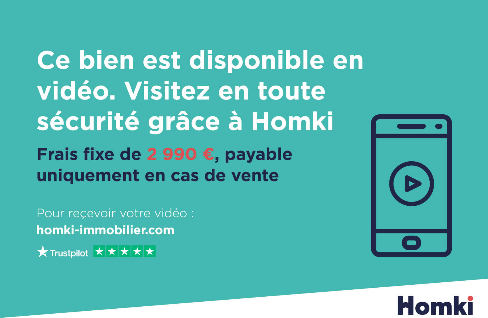 Homki - Vente Appartement  de 54.0 m² à Toulouse 31000